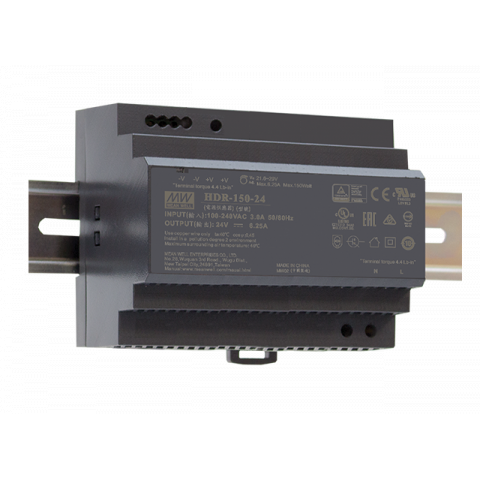 MEAN WELL HDR-150 Low Profile DIN Rail Power Supply